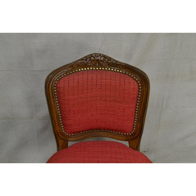 French Louis XV Style Set of 4 Bar Stools by Pama Furniture For Sale In Philadelphia - Image 6 of 13