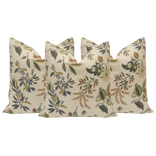 "22"" Floral Print Pillows - Set of 3 For Sale"