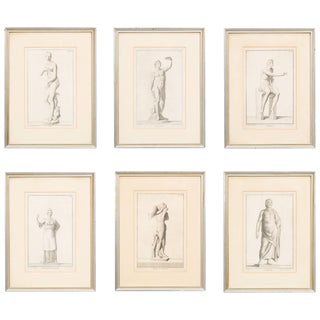 Six 19th Century Classical Prints For Sale