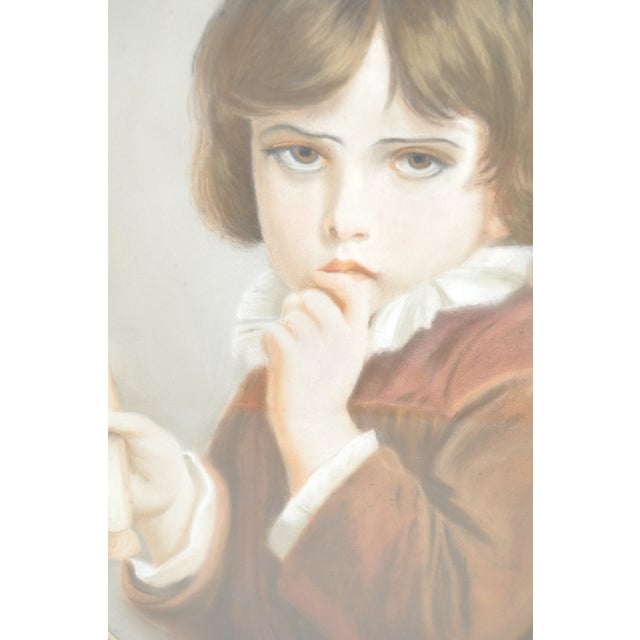 19th Century Pastel Portrait of a Young Boy - Image 4 of 5