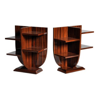Pair of Diminutive Lyre-Form Display Tables For Sale
