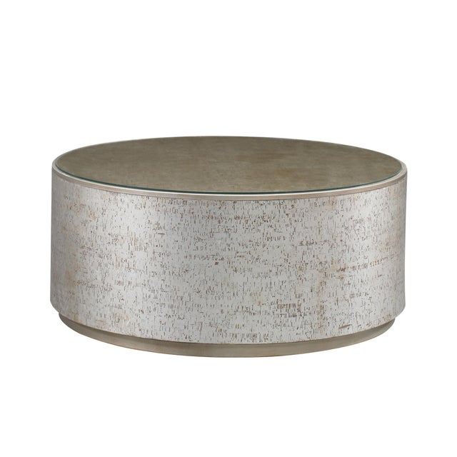 Modern Cork Drum Coffee Table from Kenneth Ludwig Chicago For Sale - Image 3 of 3