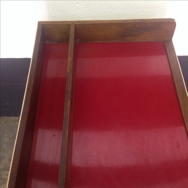 1950's Walnut and Acrylic Folding Bar For Sale - Image 5 of 10