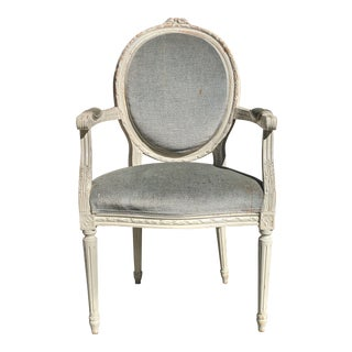 Louis XVI Style Oval Back Chair For Sale