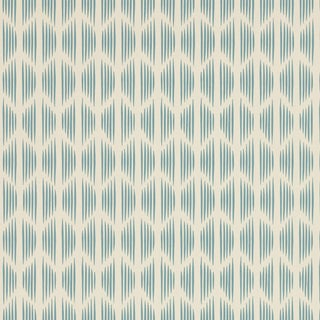Sample - Schumacher X David Oliver Ovington Wallpaper in Blues Blue For Sale