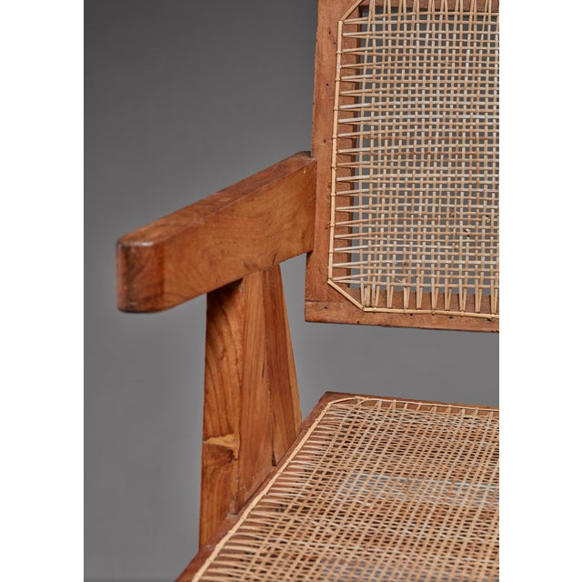 Pierre Jeanneret Pierre Jeanneret Chandigarh set of four High Court V-leg chairs, 1950s For Sale - Image 4 of 5