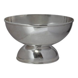 Stylish 1800s Large Oval Silverplate Champagne Cooler