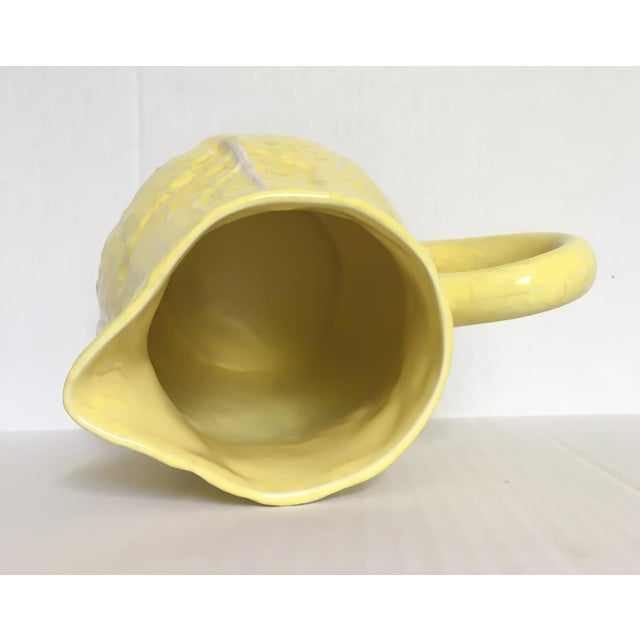Yellow Majolica Cabbage Leaf Pitcher - Image 7 of 8