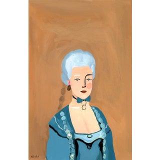 """Maria Christina, Duchess of Teschen"" Contemporary Gouache Portrait Painting by Alexandra Swistak For Sale"