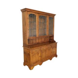 Ethan Allen Old World TreasuresStep Back Hutch China Cabinet For Sale