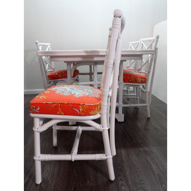Chinoiserie, Wrapped Bamboo Dining Set - 5 Pieces For Sale In West Palm - Image 6 of 13