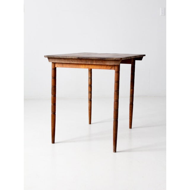 Antique Wooden Folding Table For Sale - Image 4 of 12 - Antique Wooden Folding Table Chairish