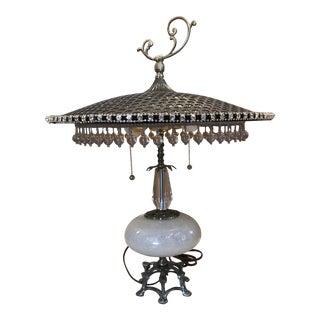Artisan Mariposa Brass Lamp For Sale