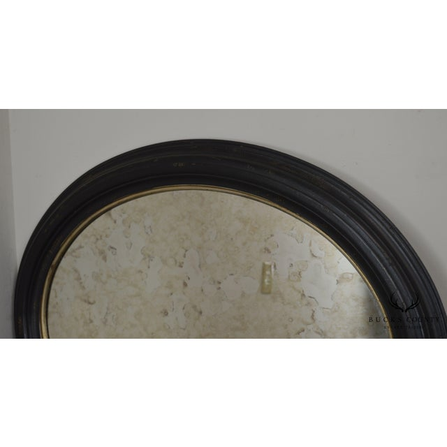 Roma Large Oval Frame Italian Wall Mirror For Sale In Philadelphia - Image 6 of 13