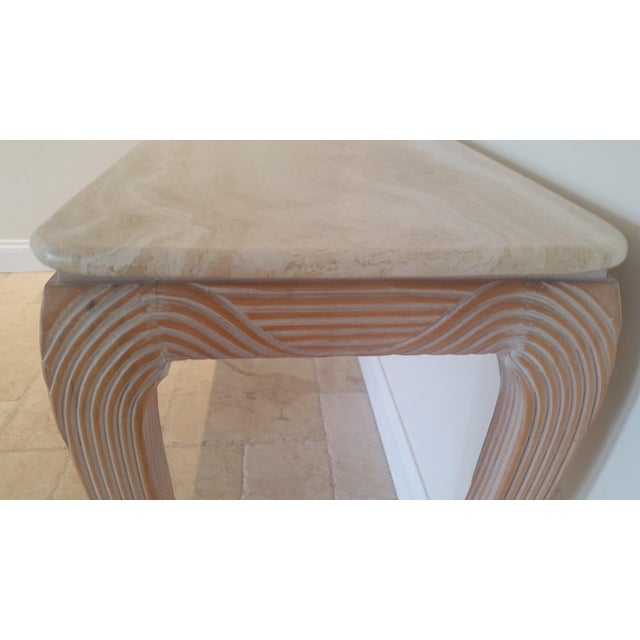 Travertine Top Console - Image 5 of 6