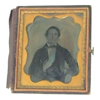 Civil War Era Tin Type Man in Formal Suit For Sale