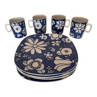 1960s Suisse Langenthal Coffee Service for Four - 8 Piece Set For Sale