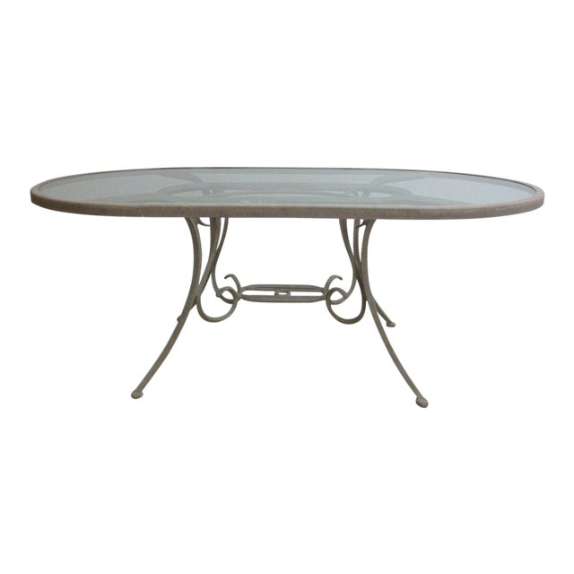 Woodard Landgrave Cast Classics Aluminum Outdoor Dining Table For Sale