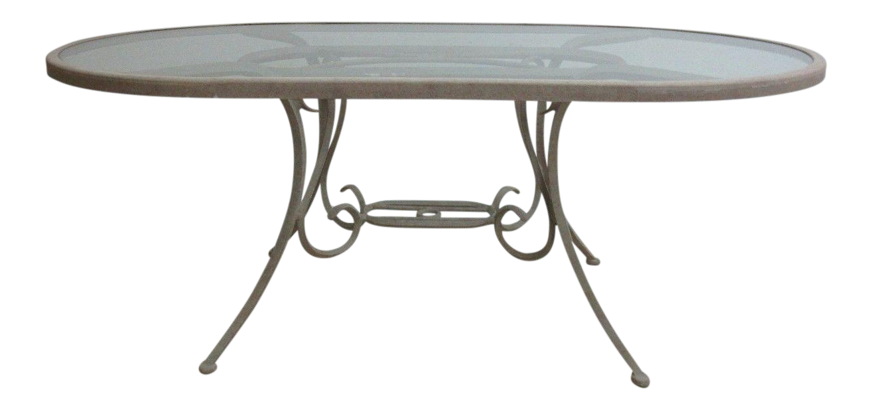 Woodard Landgrave Cast Classics Aluminum Outdoor Dining Table