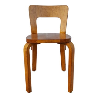 Vintage Alvar Aalto Bentwood Side Chair For Sale