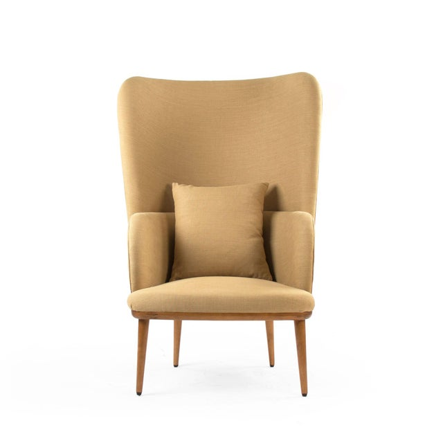 Giselle Arm Chair in Khaki For Sale - Image 4 of 4