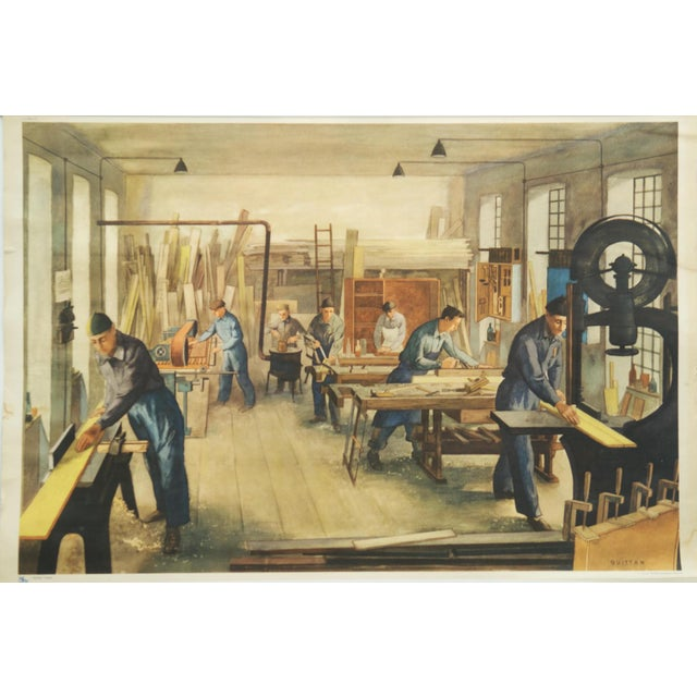 Joinery School Poster, 1960s For Sale - Image 4 of 6