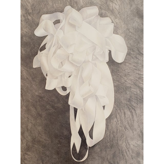 "Abstract Greg Murr ""White Ribbon"" Still Life Painting For Sale - Image 3 of 5"