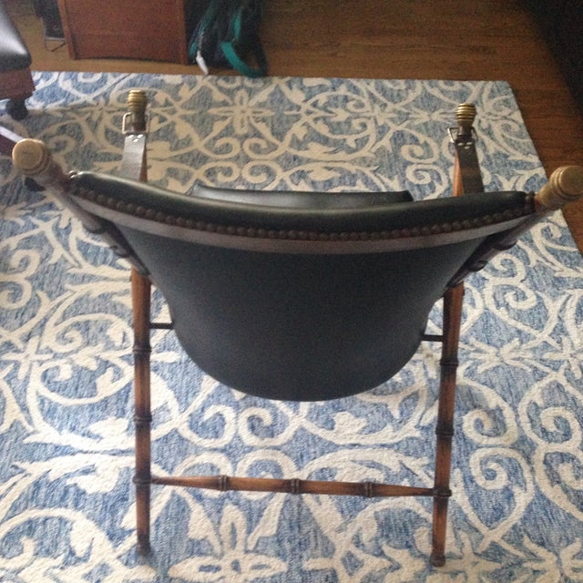 Antique Folding Campaign Chair For Sale - Image 4 of 5