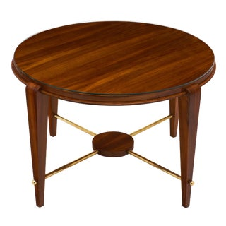 Art Deco Period Figured Walnut Gueridon Table For Sale