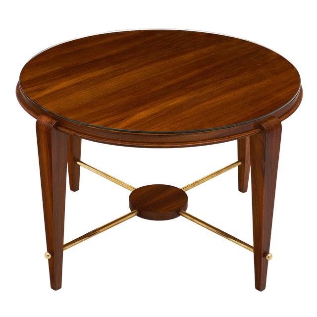 Art Deco Period Figured Walnut Gueridon Table For Sale