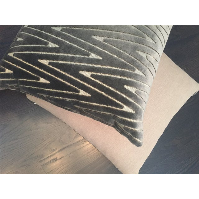 Chevron Throw Pillows - A Pair - Image 4 of 6