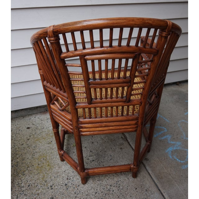 Chinese Chippendale Bamboo Brighton Pavilion Chairs - a Pair For Sale - Image 4 of 13