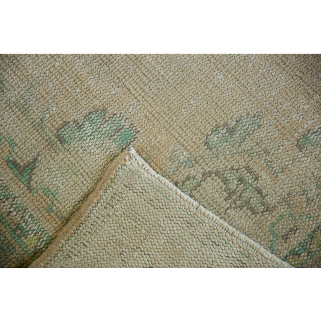 "Vintage Distressed Oushak Carpet - 5'8"" X 8'3"" For Sale - Image 11 of 12"