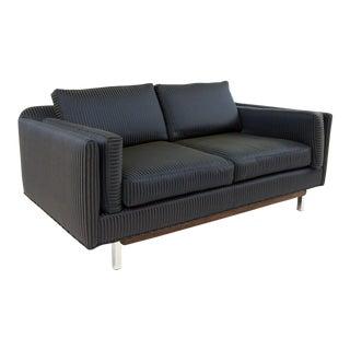 Mid-Century Modern Milo Baughman Style Settee Loveseat Sofa For Sale
