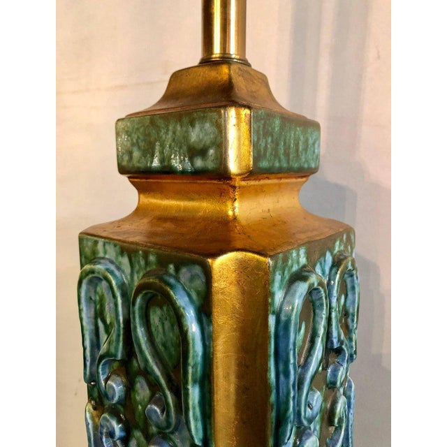 Turquoise ceramic jefferson poole pottery table lamps a pair turquoise ceramic jefferson poole pottery table lamps a pair image 6 of 11 mozeypictures Images