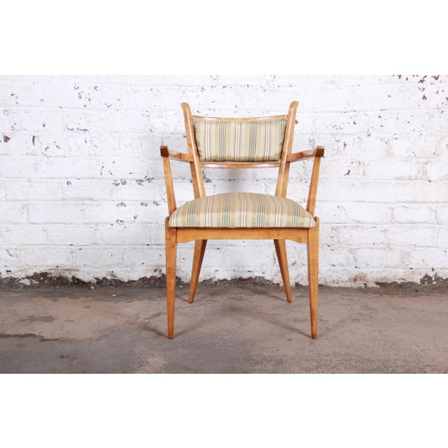 Wood Edmond Spence Swedish Modern Sculpted Tiger Maple Armchairs - a Pair For Sale - Image 7 of 13