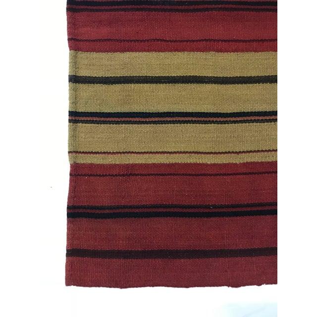 Boho Chic Vintage Persian Flat Weave Carpet - 8′ × 10′ For Sale - Image 3 of 5