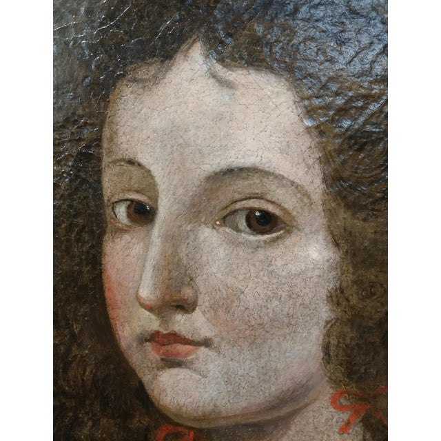 17th century Old Master-Portrait of a Elegant Woman- Oil painting For Sale - Image 5 of 10