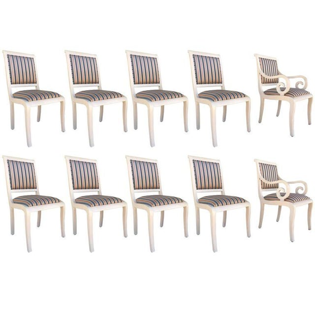 Captain Chairs and Lacquered Dining Chairs - Set of 10 - Image 1 of 7