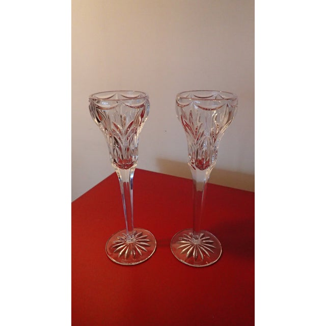 Elegant Marquis by Waterford Canterbury Candlesticks S/2 - Image 3 of 7