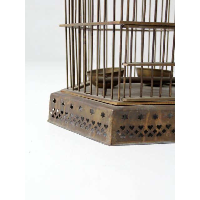 Antique Brass Bird Cage For Sale - Image 4 of 7