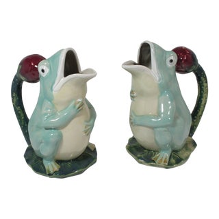 1990s Frog Pitchers - a Pair For Sale