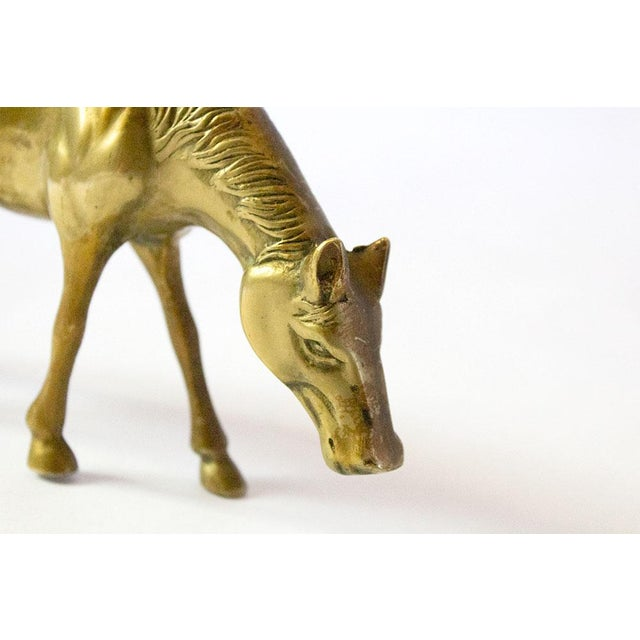 Vintage Mid Century Brass Horse Figure For Sale - Image 4 of 6