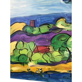 Large Abstract Peter Robert Keil Signed Mallorca Landscape at His Spanish Residence, 'Cala Millor' For Sale