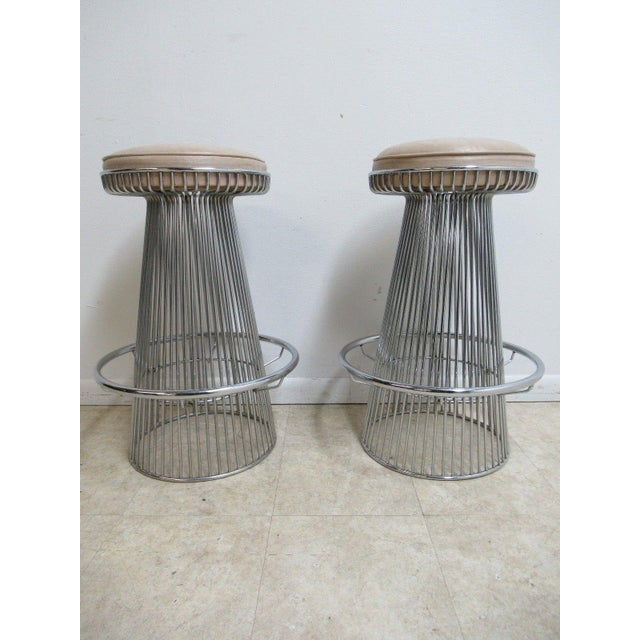 Vintage Chrome Wire Cone Bar Stools - A Pair - Image 11 of 11