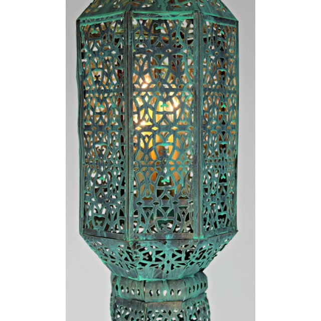 Moroccan Style Hanging Lantern For Sale - Image 5 of 9