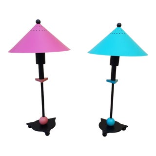 1980s Postmodern Memphis Modern Period Be Yang Table Lamps - a Pair For Sale