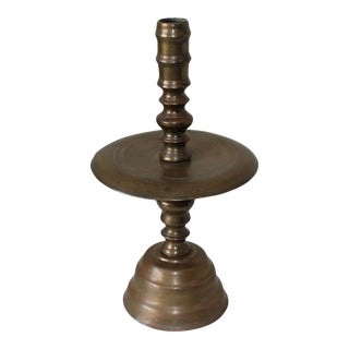 1920s Brass Candleholder For Sale
