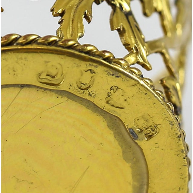 1769 Michael Plummer London George III Miniature Sterling Silver Pierced Basket For Sale In Los Angeles - Image 6 of 6