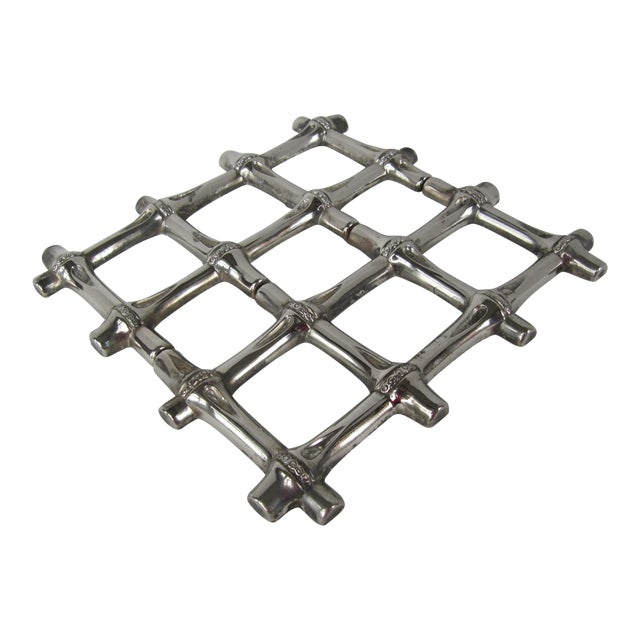 Silverplate Bamboo Trivet - Image 1 of 5